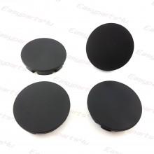 4x ALLOY WHEEL HUB 56mm 52mm CENTRE CAPS BLACK