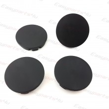 4x ALLOY WHEEL HUB 55mm 52mm CENTRE CAPS BLACK