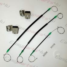 VW Golf 4 Window Regulator Cable SET with metal clips for Front Left door