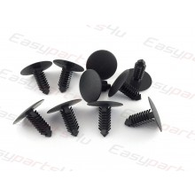 Fir Tree Plastic Clips Car Panel universal Trim retainer roof lining black / grey (8mm x 23,5mm)