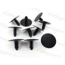 Fir Tree Plastic Clips Car Panel universal Trim retainer roof lining black / grey (8mm x 32mm)