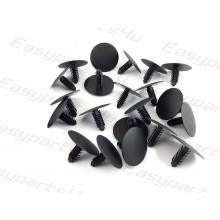 Fir Tree Plastic Clips Car Panel universal Trim retainer roof lining black / grey (8mm x 28mm)